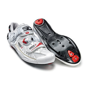 Sidi Ergo 3 Carbon Vernice Cycling Shoes - White/Black 2014