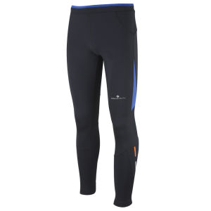 RonHill Men's Advance Contour Tights - Black/Ultramarine