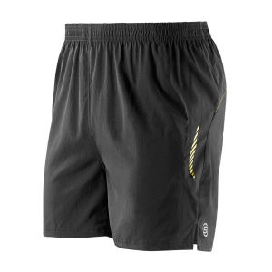 Skins Men's Pace 5 Running Shorts - Black/Yellow