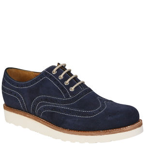Grenson Men's William V Brogues - Navy