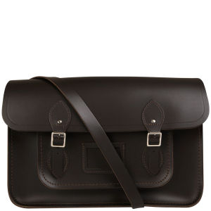 Cambridge Satchel Company 15 Inch Leather Satchel - Dark Brown