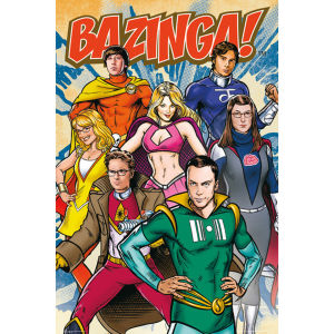 The Big Bang Theory Super Heroes - Maxi Poster - 61 x 91.5cm