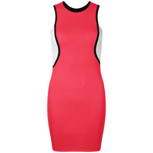 Influence Women's Piping Sport Bodycon Dress - Coral