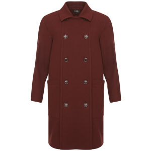 A.P.C. Women's Geometric Coat - Maroon