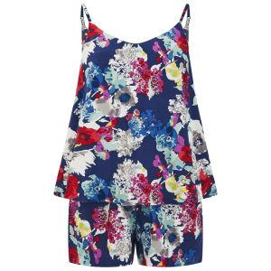 Vero Moda Women's Flower Joe Playsuit - Navy