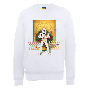 Star Wars Christmas Candy Cane Troopers Sweatshirt - White