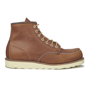 Red Wing Men's 6 Inch Moc Toe Leather Lace Up Boots - Oro Legacy