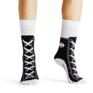 Silly Socks Sneaker - Black