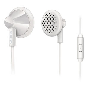 Philips SHE2105WT/28 Earphones with Mic - White