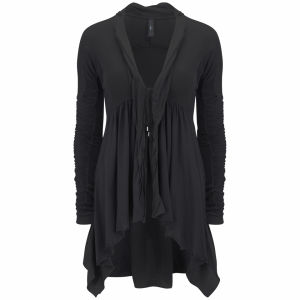 HIGH Women's Let Loose Jersey Flared Cardigan - Black
