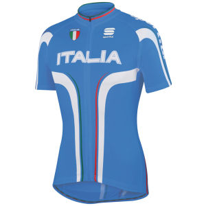 Sportful Italia IT Short Sleeve Jersey - Blue