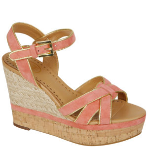 Ash Women's Havana Wedge Sandals  - Peach