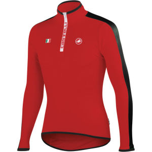 Castelli Spinta Long Sleeve Jersey - Red/Black