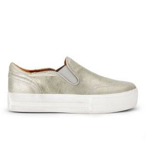 Ash Women's Jungle Leather Slip-On Trainers - Sand/Gold
