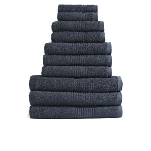 Highams 100% Egyptian Cotton 10 Piece Towel Bale (550gsm) - Charcoal
