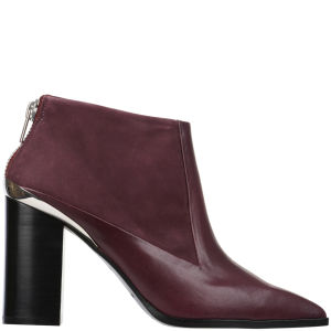 See by Chloe Women's Sienna Heeled Leather Ankle Boots - Wine