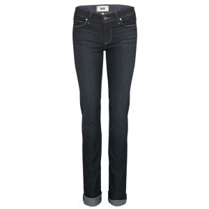 Paige Women's Skyline Mid Rise Straight Jeans - Stream