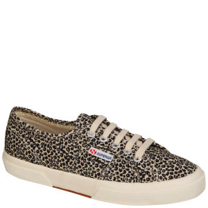 Superga Women's 2750 Spotted Fabric Trainers - Leopard