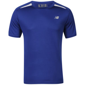 New Balance Men's Momentum Short Sleeve T-Shirt - Navy