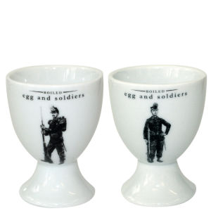 Victoriana 'Egg and Soldiers' Set of 2 Egg Cups