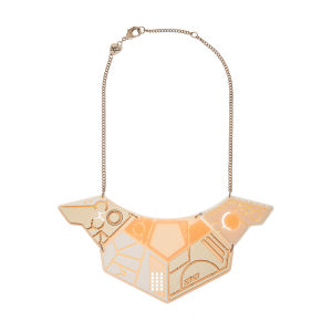 Tatty Devine Spaceship Statement Necklace - Gold