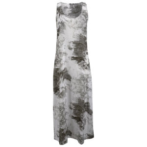 Denham Women's Silk Print Maxi Dress - Ash Grey