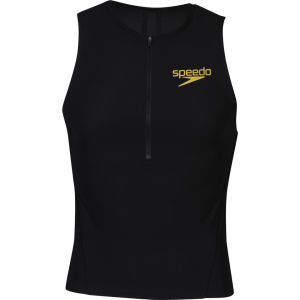 Speedo Men's Triathlon Racer Pro Singlet - Black/Retro Gold