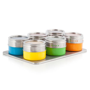 Cook In Colour Set of 6 Spice Jars and Stand