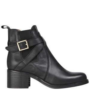 Carvela Women's Sadie Heeled Leather Ankle Boots - Black
