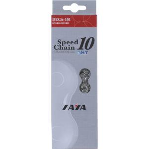 Taya DECA 101UL 116L 10 Speed Bicycle Chain - Silver/Silver