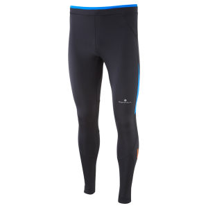 RonHill Men's Advance Contour Running Tights - Black/Electric Blue