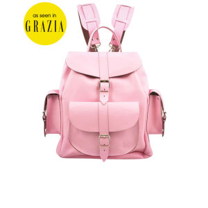 Grafea Pink Lemonade Medium Leather Rucksack - Pink