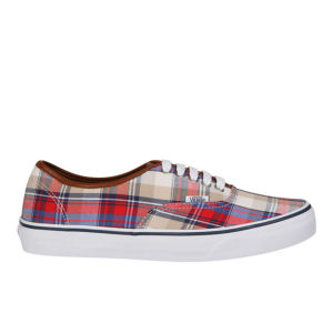 Vans Authentic Plaid Trainer - Red/Blue