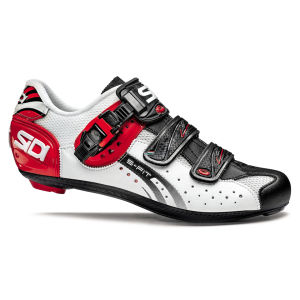 Sidi Genius 5 Fit Mega Carbon Cycling Shoes - White/Black/Red
