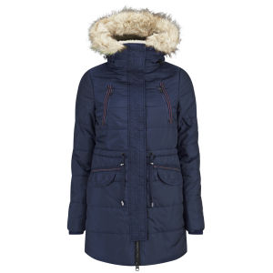 Vero Moda Women's Polly Parka Coat - Black Iris