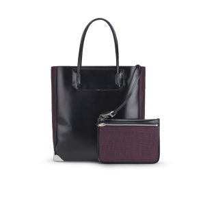 Alexander Wang Prisma Leather Tote Bag - Black/Burgundy