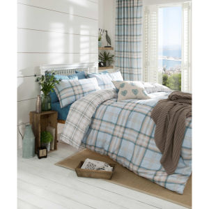 Catherine Lansfield Kelso Bedding Set - Duckegg