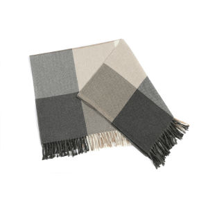 Avoca Rome Donegal Throw - Grey (142cm x 100cm)