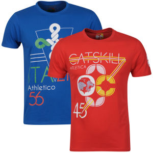 Catskill Men's 2-Pack Italia T-Shirts - Royal/Red