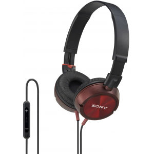 Sony DR-ZX301IP Headphones - Red