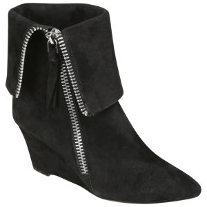 Jean-Michel Cazabat Women's Valeria Suede Wedged Ankle Boots - Black