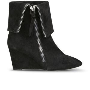 Jean-Michel Cazabat Women's Valeria Suede Wedged Ankle Boots - Black