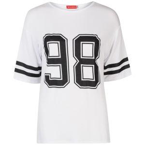 Influence Women's Collegiate Oversized T-Shirt  - White