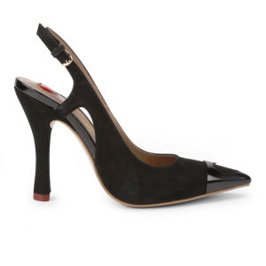 Love Moschino Women's Heart Sling Back Heels - Black