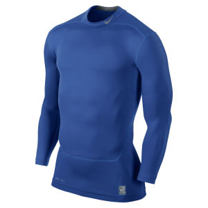 Nike Men's Core Compression Long Sleeve Mock Top 2.0 - Blue