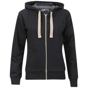 Brave Soul Women's Adrian  Hooded Zip Through - Charcoal Marl