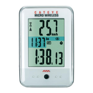 Cateye Micro Wireless Cycle Computer - White