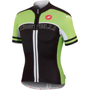 Castelli Free Ar 4.0 Jersey - Black/Lime/White