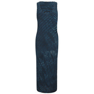 Denham Women's Twisted Stripe Maxi Dress - Blue/Black