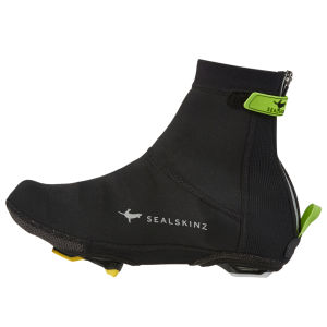 SealSkinz Neoprene Overshoes - Black/Green